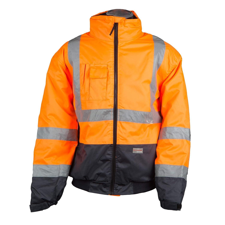 Mediablue Workwear Warn- und Wetterschutzjacke, Style U-W 19, Farbe:Leuchtorange-Marine