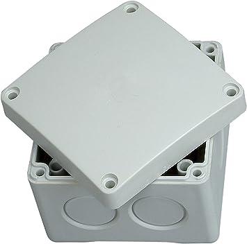 Kopp 351002007 - Caja de Empalme de conexión (a Prueba de Humedad, IP 54/65, 80 x 80 x 63 mm): Amazon.es: Bricolaje y herramientas