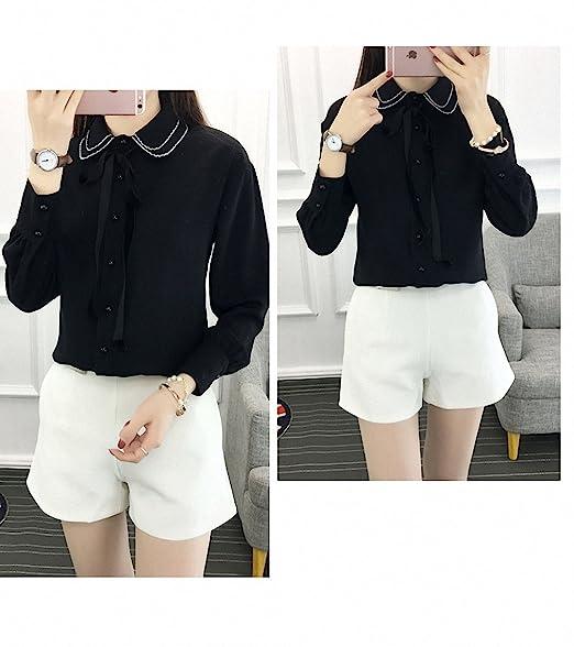 Womens Blouse White Shirts Formal Chiffon Work Work Wear Office OL Tops Shirts at Amazon Womens Clothing store: