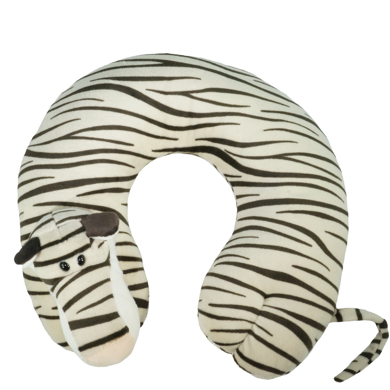 ComfoLUX Animal Neck Travel Pillow for Kids and Adults - Tiger