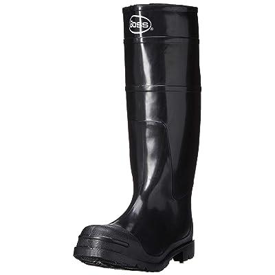 Boss 2KP200108 Men's Black Rubber Boots, Size 8: Garden & Outdoor