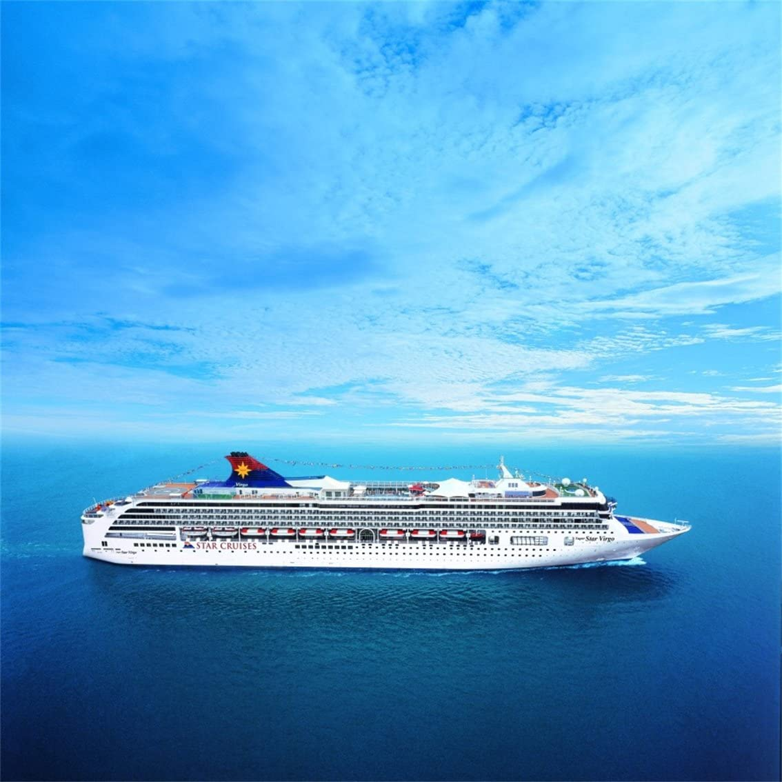 Amazon Com Csfoto 4x4ft Luxury Cruise Ship Seascape Background Beautiful Scenery Holiday Photography Backdrop Tourism Ocean Sea Blue Sky Relax Studio Props Artistic Portrait Wallpaper Camera Photo