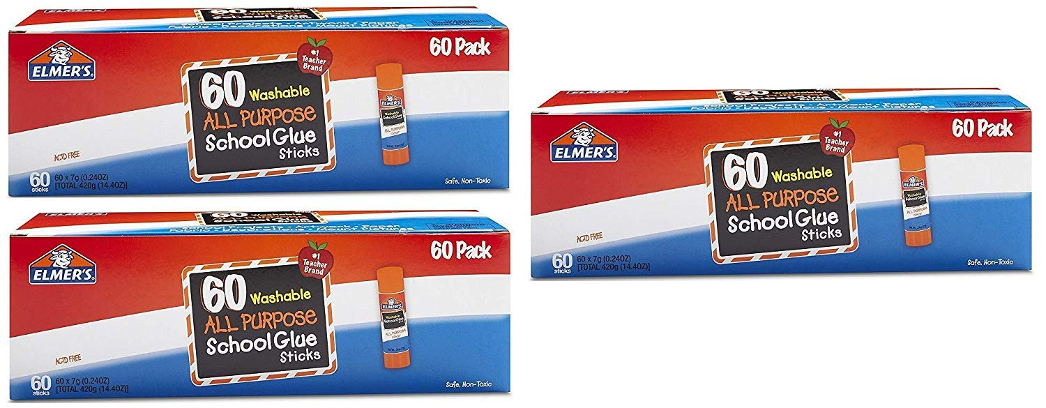 Elmers All Purpose School Glue Sticks, Washable, 0.24-ounce sticks, 180 Count