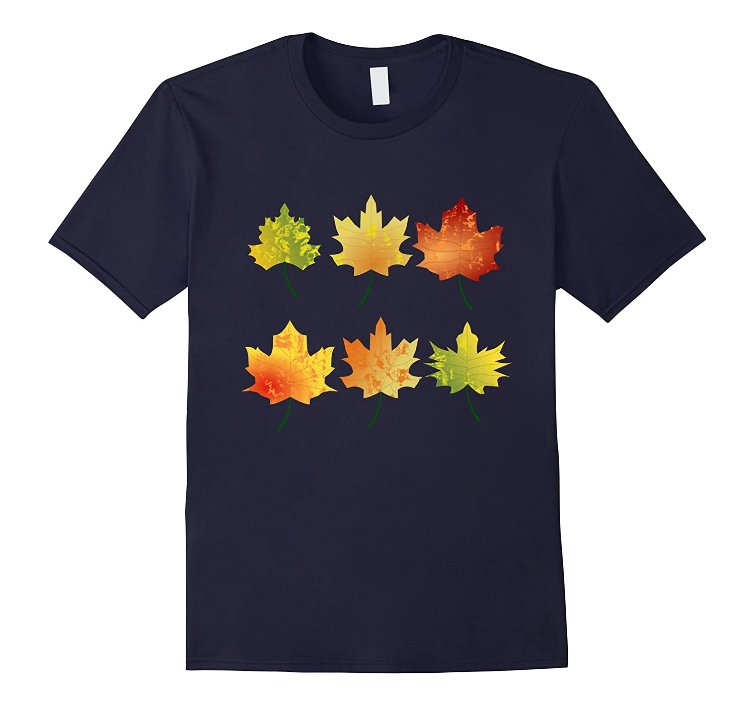 Fall Autumn Tree Leaves Shirt Turn Colors Harvest T-Shirt-FL