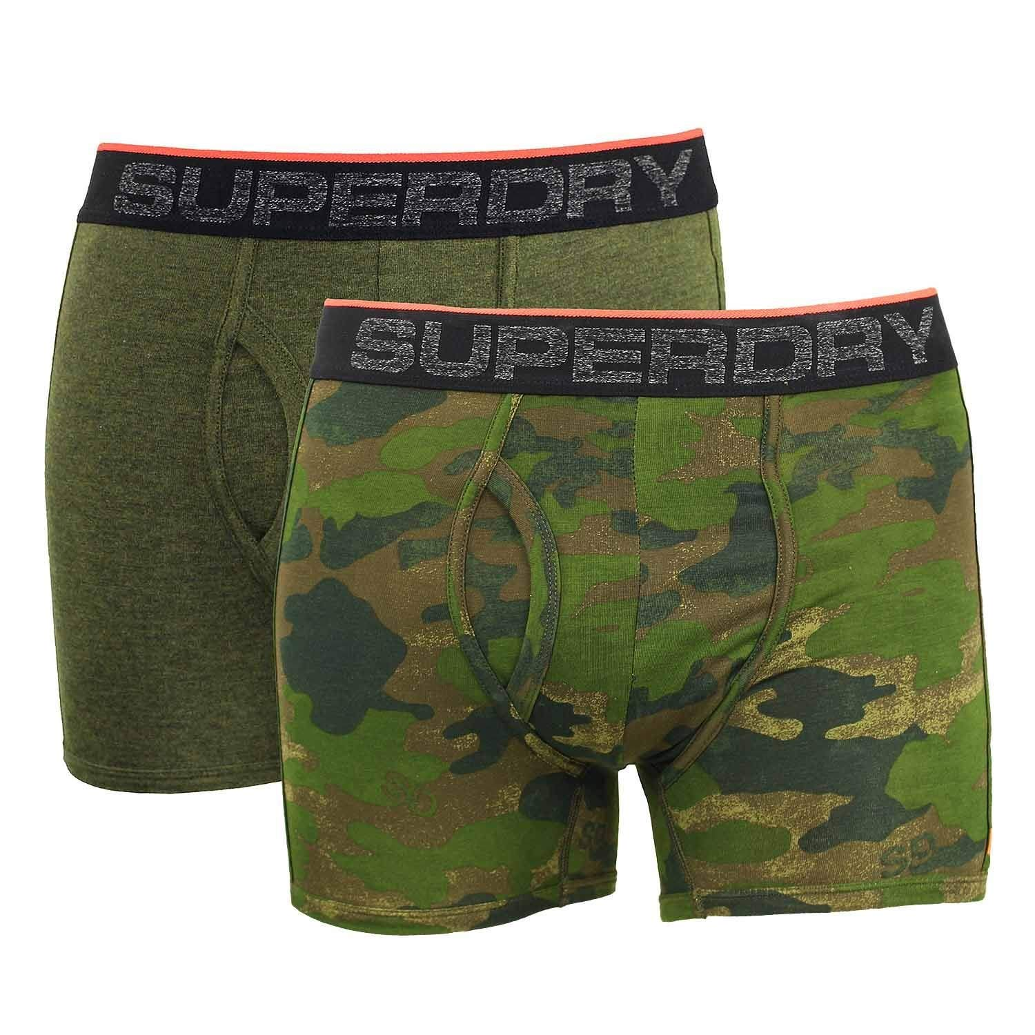 TALLA S. Superdry Tipped Sport Boxer Double Pack, Hombre