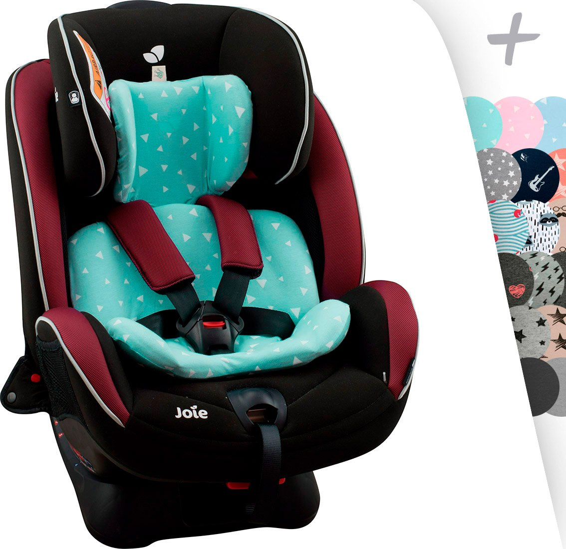 JANABEBE Funda para reductor Joie Stages BLACK RAYO Every Stages
