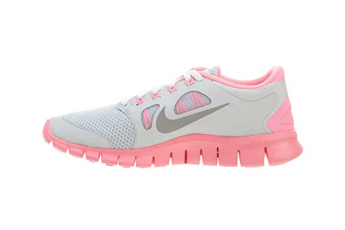 ffa2ae3cd199 Nike Free 5.0 (GS) Girls Running Shoes 580565-601 Pure Platinum Metallic  Silver Pink 7 M US Big Kid  Amazon.in  Shoes   Handbags