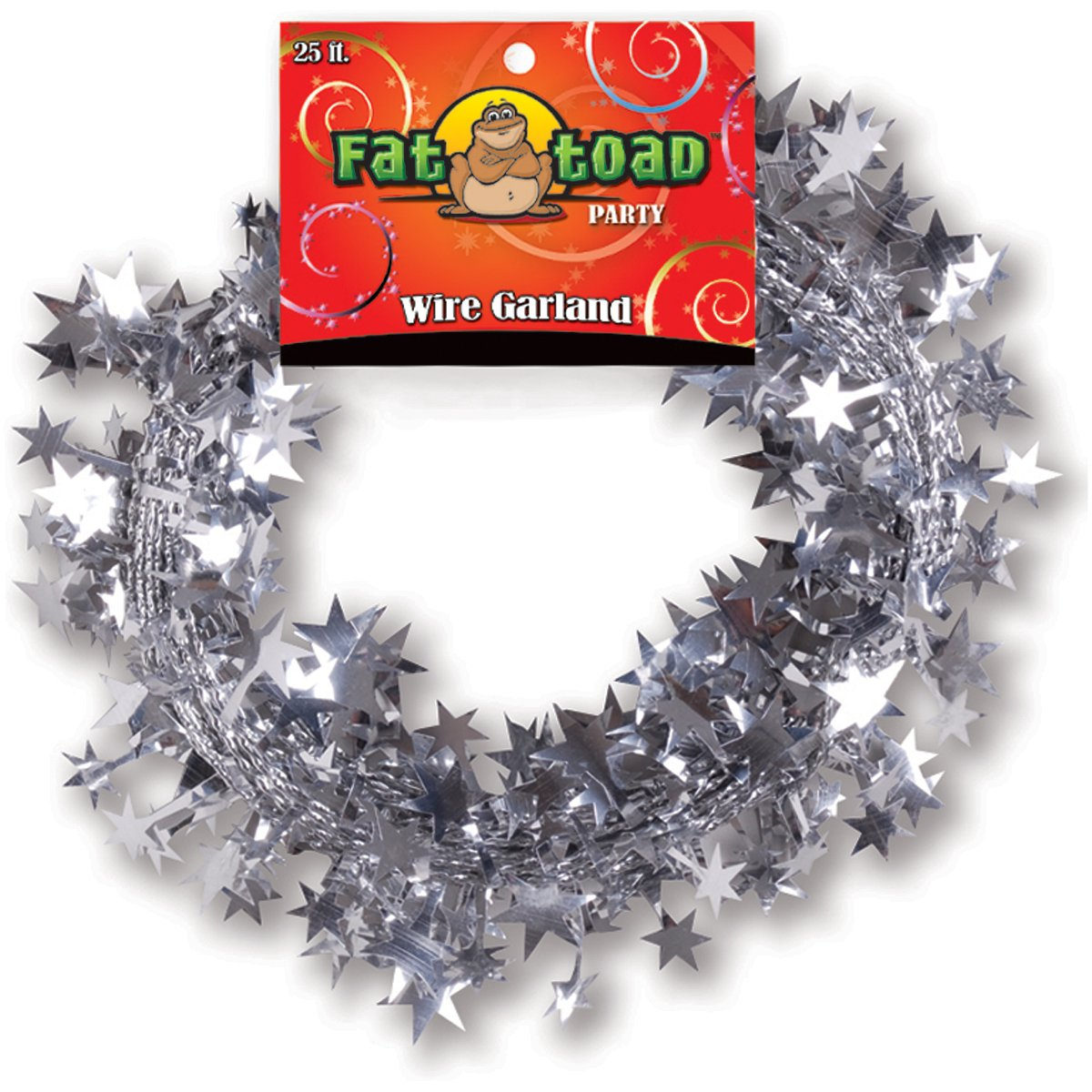 Wire Garland 25 Feet/Pkg-Silver Stars by Axiom International