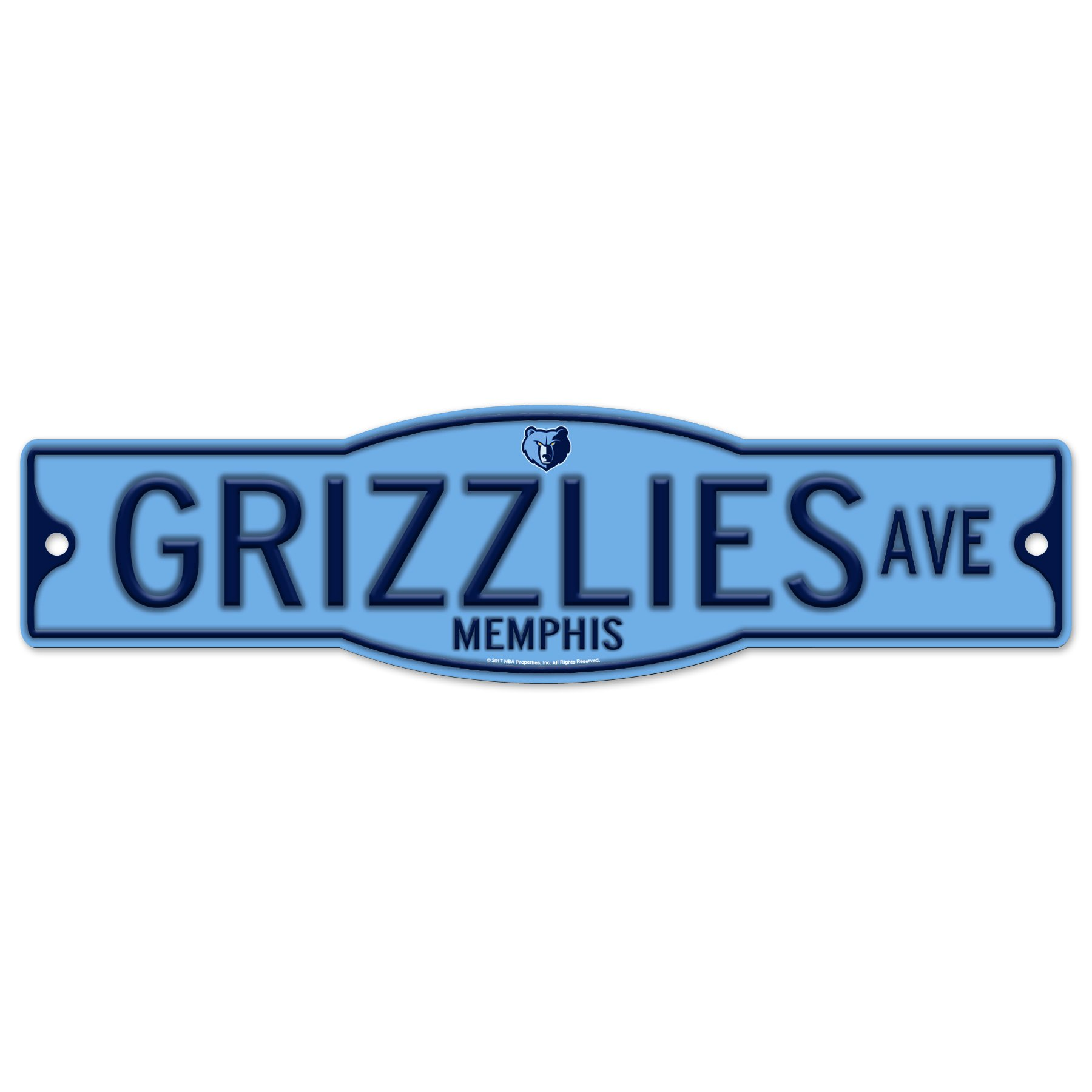 Memphis Grizzlies 4'' x 17'' Plastic Street Sign NBA