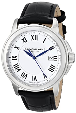 Raymond Weil Mens 5578-STC-00300 Tradition Analog Display Swiss Quartz White Watch