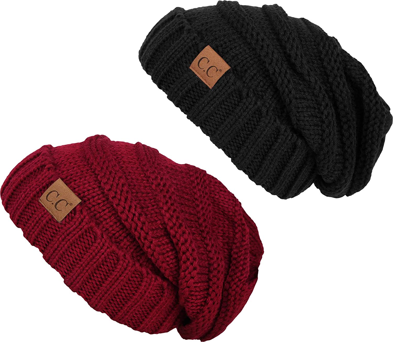 【25%OFF】 Funky Junque HAT レディース B07N1V388Y 2 & Pack HAT - Black レディース & Burgundy 2 Pack - Black & Burgundy, ファイブ アンド テン:4221ccaa --- irlandskayaliteratura.org