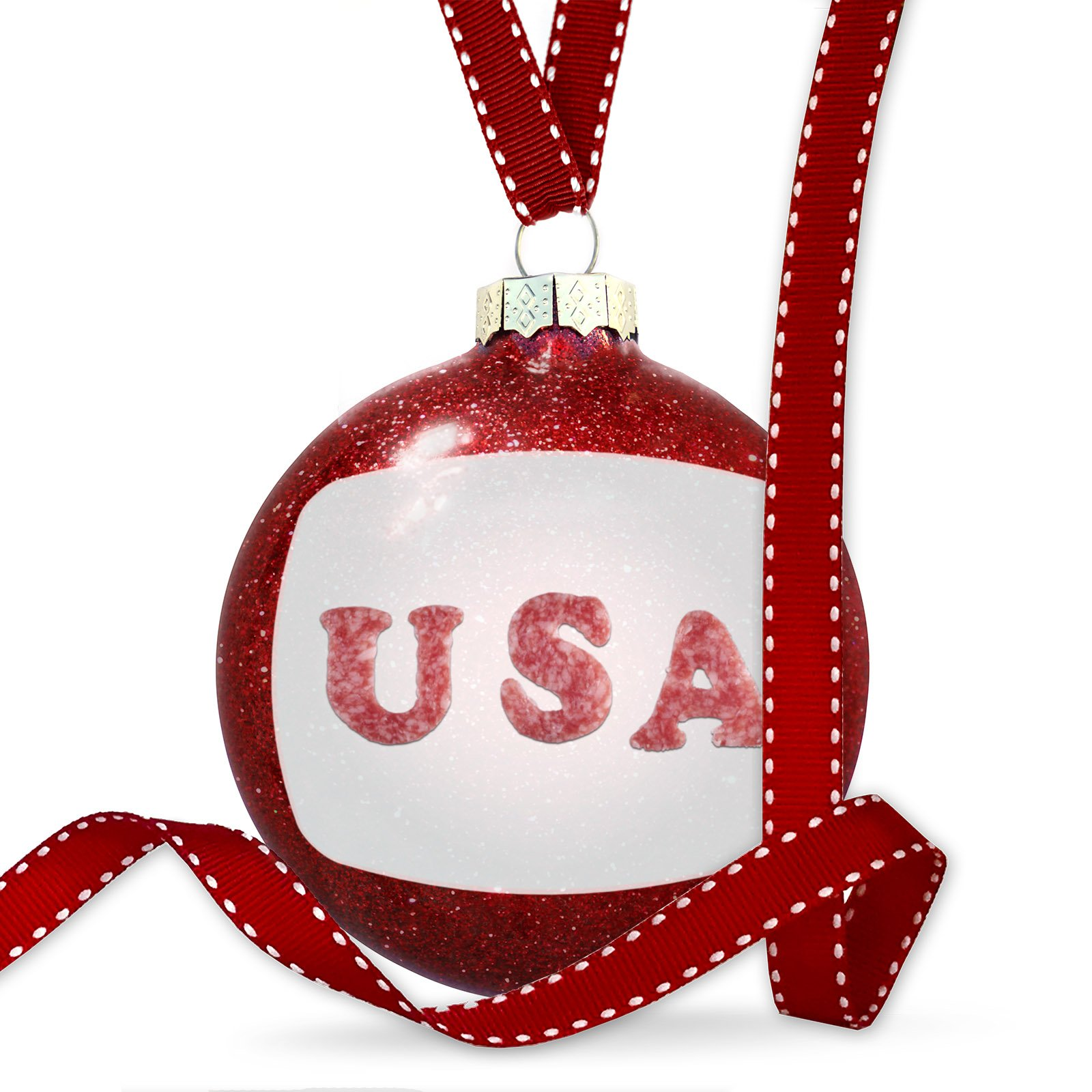 Christmas Decoration United States of America Salami Ornament