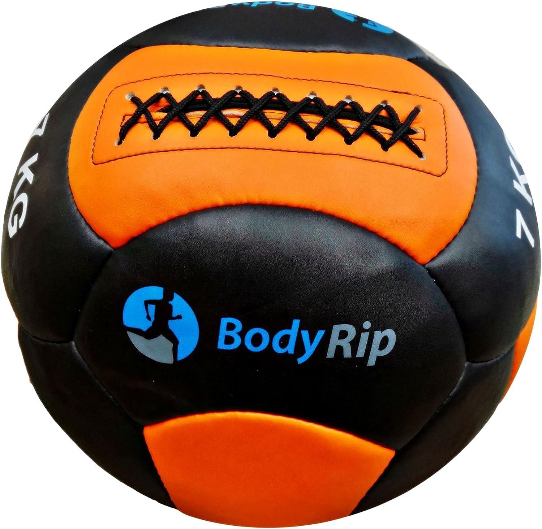 BodyRip 35,56 cm balones medicinales - Cuero Negro/Naranja, 7 ...