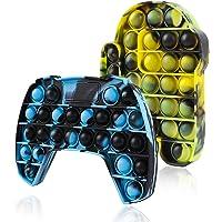 Genovega 2 Packs Bubble Sensory Push It Fidget Pop Toy, Popper Poop Figetget Pot Po Pops Poppop Popet Popits Tous…