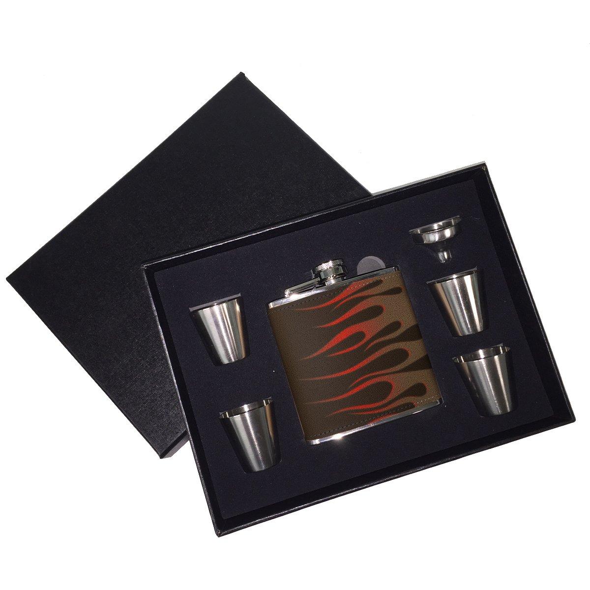 人気ブランド ホットロッドCool Fire Fire – – B01J18DVGQ レザーフラスコギフトセット B01J18DVGQ, とぎ職人の部屋:869fe4a7 --- xienttechnologies.com
