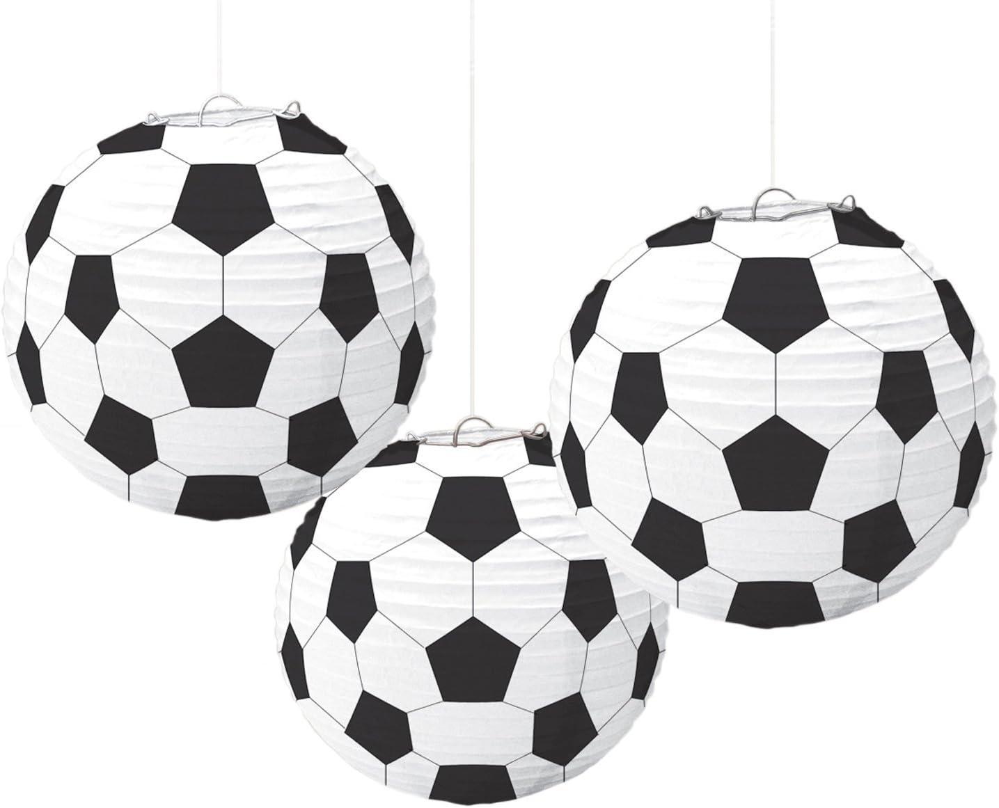 Amscan 240178 Soccer Paper Lanterns, Party Decoration | 3 piece