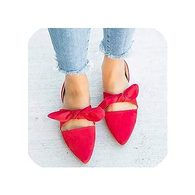 cheap new styles in stock Amazon.com   baixa 2019 Spring Summer Flats Women Shoes Bowtie ...