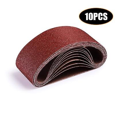 Abrasive Tools Fashion Style Sandpaper Sanding Belt Abrasive Band Sander Durable Aluminum Oxide 40-120 Grit~#