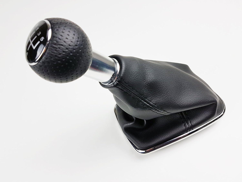 New 5 Speed Manual Gear Shift Knob & Gaiter Black Leather [1998-2004] 1J0711113 Just German Parts