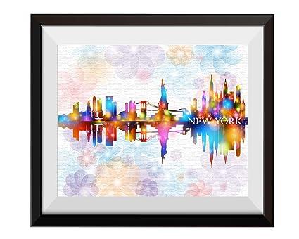 Uhomate New York City Skyline NYC Home Canvas Prints Wall Art Anniversary Gifts Baby Gift
