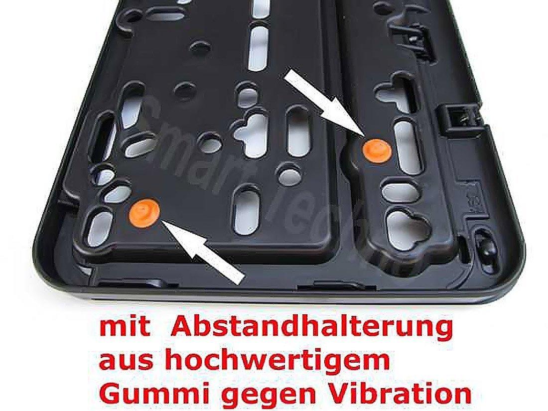 para matr/ícula Negro con goma, Anti-Vibration Matr/ícula Soporte para cartel