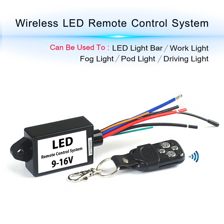 amazoncom led light bar remote wiring harness wireless remote