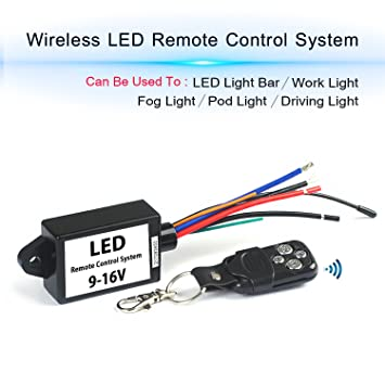 Led Light Bar Remote Wiring Harness Wireless Remote Wiring Harness For Led Light Bar Driving Light Fog Light Pods Light Work Light Supported Current