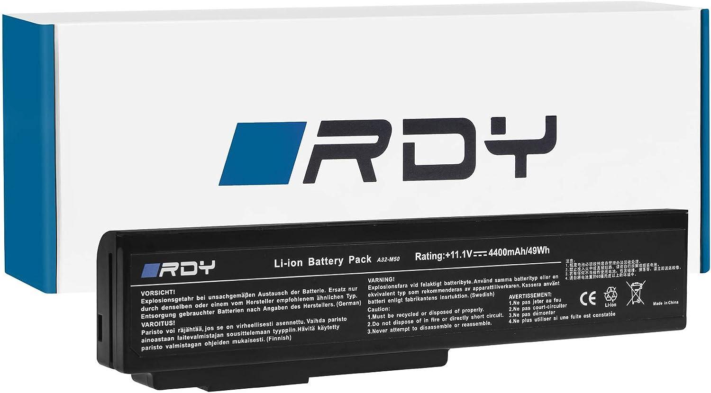 RDY Bater/ía A32-M50 A32-N61 para ASUS G50 G50V G51 G51J G51VX G60 G60JX L50 M50 M50S M50SV M50V M50VC M60 N52 N52D N52J N53 N53J N53S N53SV N61 N61DA N61J N61JV N61V N61VG N61VN X57 X57V