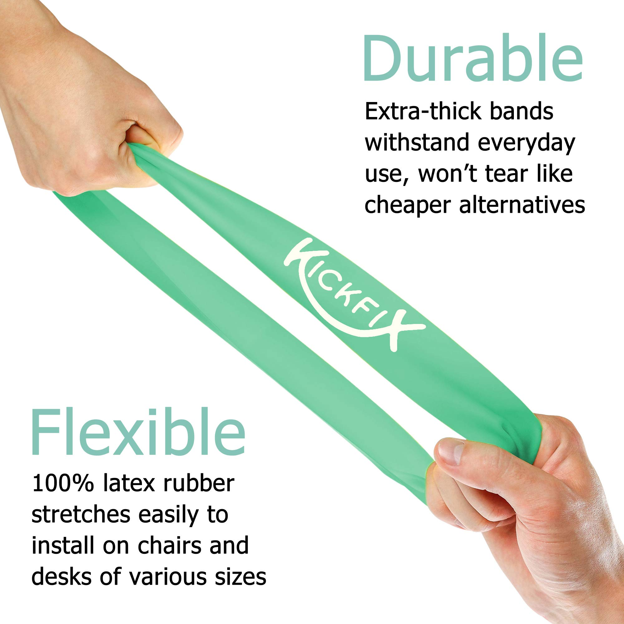 Fidget Chair Bands for Kids - Flexible Seating Classroom Furniture Option for Kids with Fidgety Feet - Bouncy Foot Bands for the Desk or Chair for Students with ADHD, Autism, or Sensory Needs by Kickfix (Image #4)