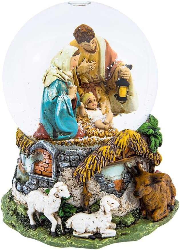 Kurt Adler Holy Family Musical Water Globe, 100mm