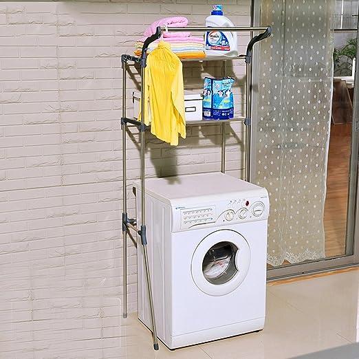 Lingyun- Cuarto de baño Lavadora Estante de almacenaje Estante de ...