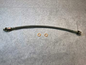 CARRS4X4 Land Rover Discovery II 99-04 coolant Hose Aluminum T w//Stainless Steel Bleeder Screw