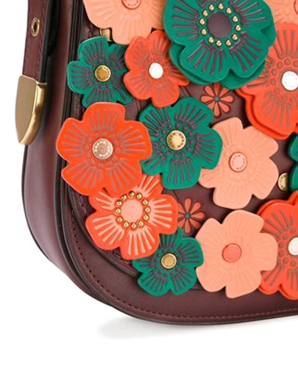 9dc59597275f Coach Tea Rose Applique Saddle 23 in Bordeaux Style 38195   1941  collection  Handbags  Amazon.com