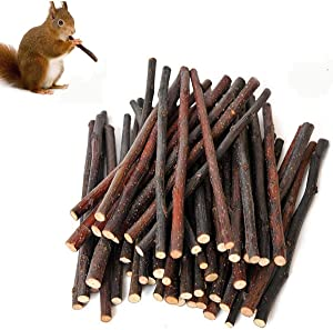 300g Organic Apple Sticks Wood Tree Branches Pet Snacks Chew Toys Branch for Guinea Pigs Chinchilla Squirrel Rabbits Hamster Small Animals