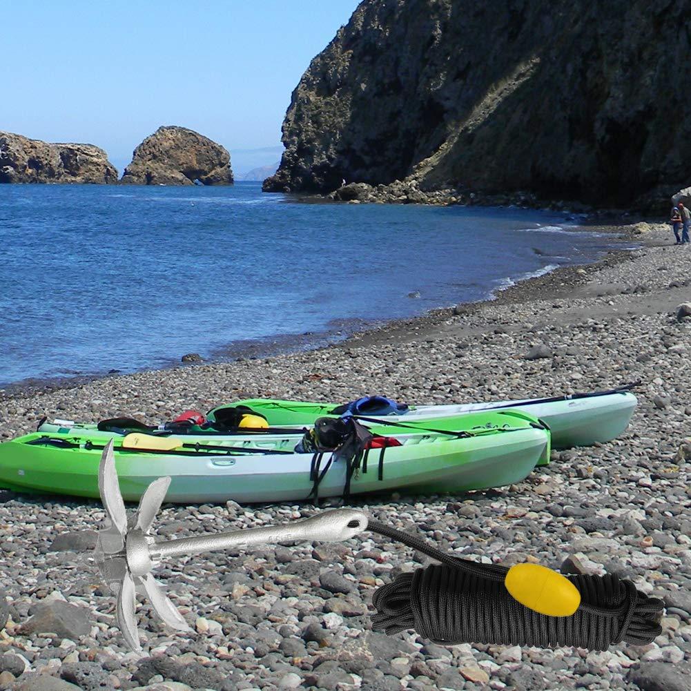 Jet Ski con Gancio a Scatto per Kayak Canoa Pieghevole Accessori per Ancoraggio Marino Abimars SUP pagaia e Piccola Barca 1,8 kg