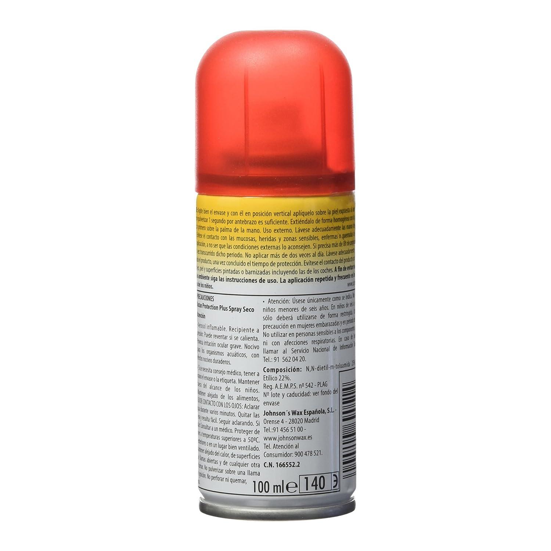 Autan Protection Plus - Repelente de mosquitos, moscas y garrapatas seco al tacto. Protección multi-insectos de 100 ml: Amazon.es: Amazon Pantry