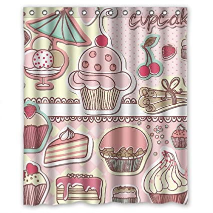 Artsplaza Polyester Happy Birthday Shower Curtains Width X Height 60 72 Inches W H