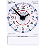 """EasyRead TwinTime Student Edition, 6"""" x 8"""" double-sided write on wipe off clock card"""