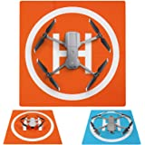 Symik Drone Landing Pad Elite Double-Sided Waterproof 20 inch (50cm) Portable Fast-Fold Helipad, Compatible with DJI…