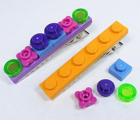 LEGO Hair Clips Barrette Accessories Random Custom Girls Jewelry
