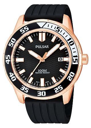 Pulsar Reloj Análogo clásico para Hombre de Cuarzo con Correa en Caucho PS9114X1: Pulsar: Amazon.es: Relojes