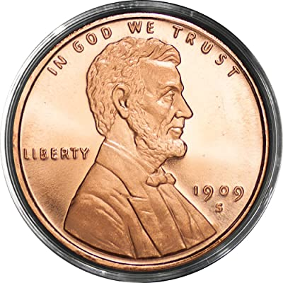 REEDERSONG (1) Lincoln Wheat Cent | 1 AVDP oz .999 Fine Copper Round: Toys & Games