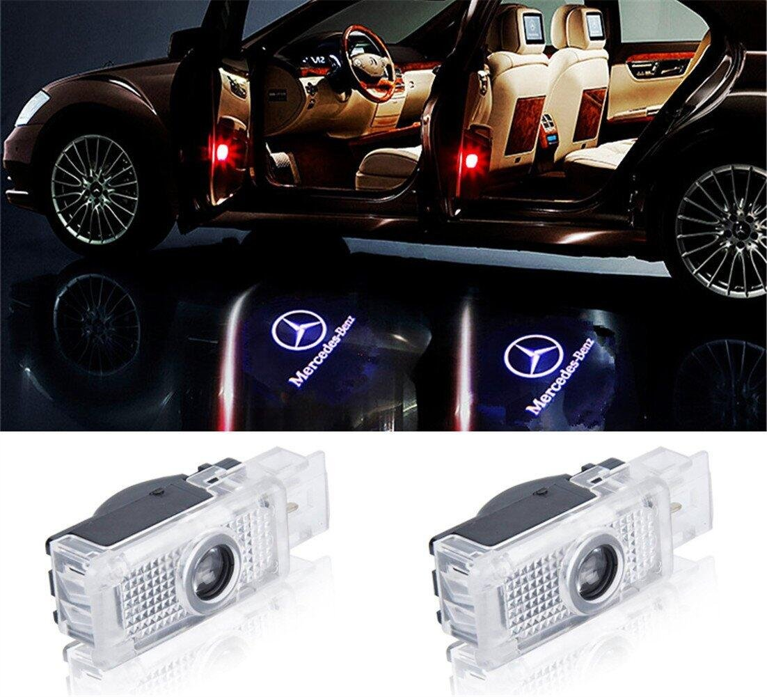 Redcrystal for Mercedes-Benz Cla Cls Car LED Projector Door Ghost Shadow Welcome Logo Light