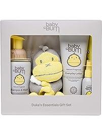 Baby Bum Duke's Essentials Gift Set - Shampoo and Wash - Everyday Lotion - Hand Sanitizer - Blanket