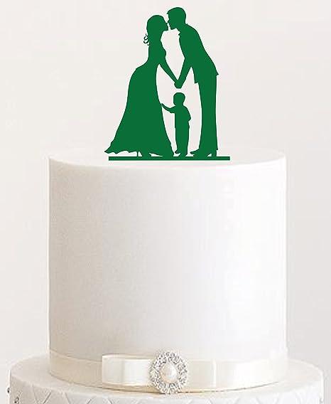 Cake Topper 23 Acrylic Wedding Cake Plug Cake Figurines Dark