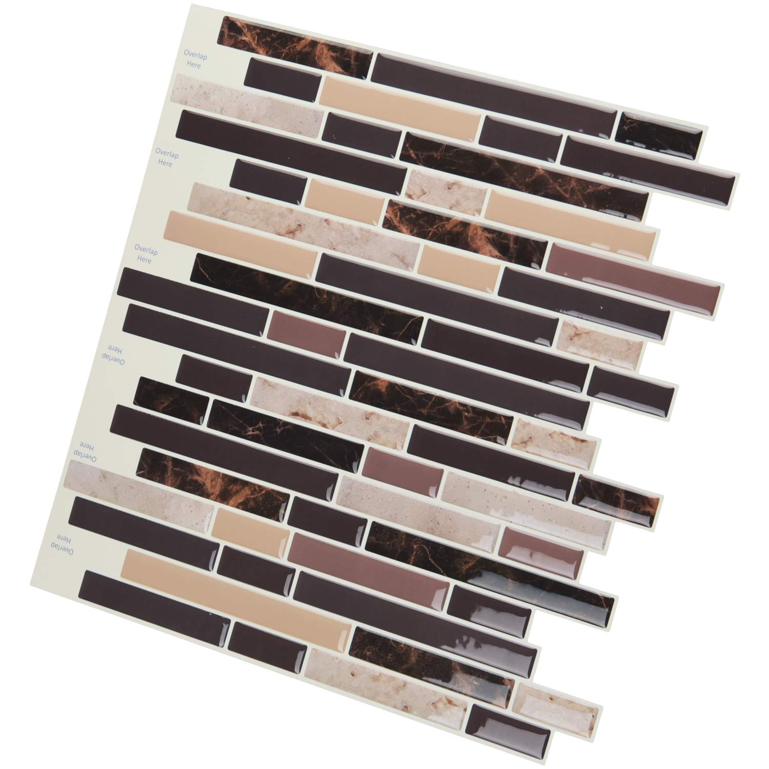 Art3d Self Adhesive Wall Tile Peel and Stick Backsplash for Kitchen (10 Tiles) by Art3d (Image #4)