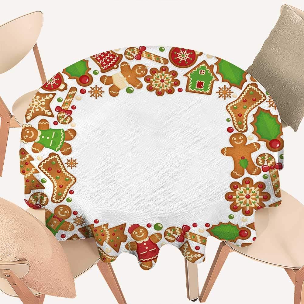 haommhome 子供用 クリスマス タッセル テーブルクロス 陽気なユレタイドの祝賀 パステル 季節 グラフィック エレメント マルチカラー D 50