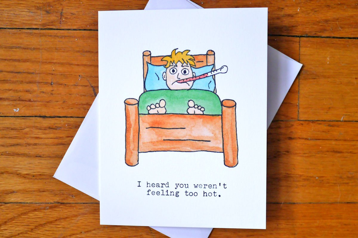Amazon Funny Rude Get Well Soon Card Suck It Up Sick In