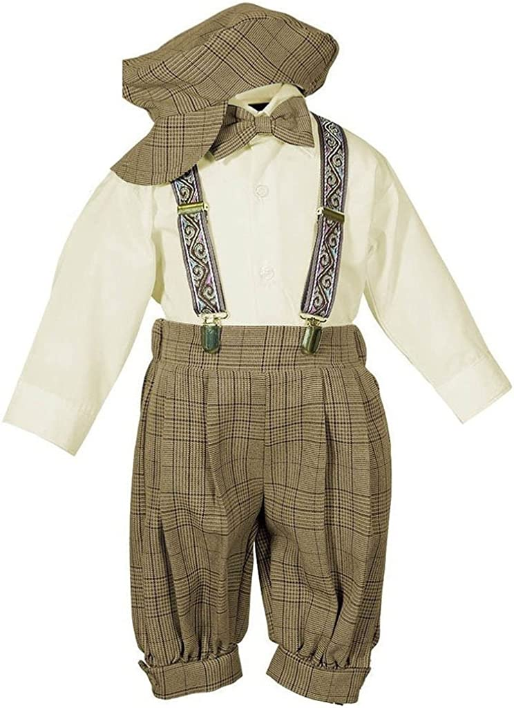 Vintage Dress Suit-Tuxedo Knickers Outfit Set Baby Boys /& Toddler-Beige//Ivory