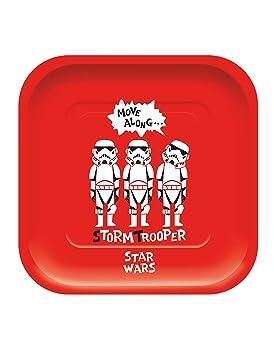 COOLMP - Juego de 6 Platos de cartón Cuadrados Premium Star ...